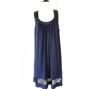 Oleg cassini  Blue razerback dress size 12